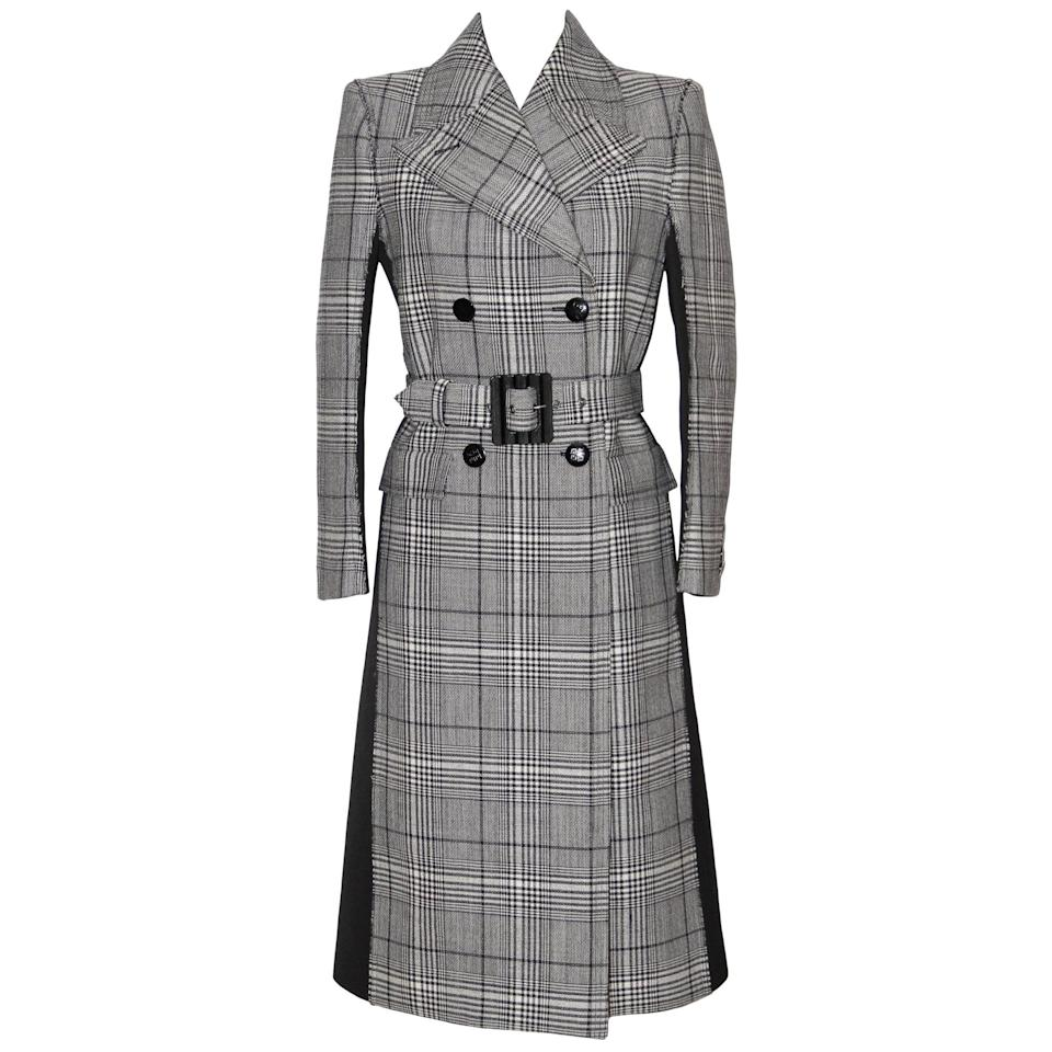 <p><span>Givenchy Double-Breasted Black and White Prince of Wales Wool Coat</span> ($3,561)</p>