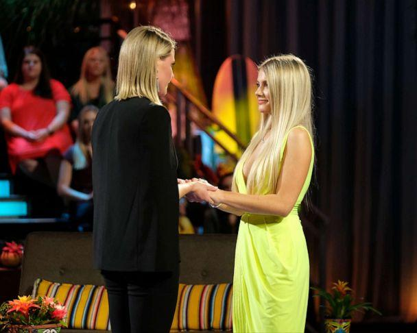 "PHOTO: Kristian Haggerty proposes to Demi Burnett during the finale of ""Bachelor in Paradise."" (ABC/John Fleenor)"