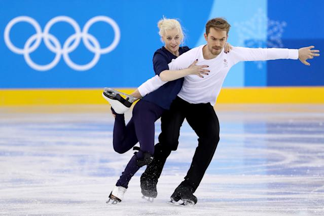 <p>British ice dancing duo Penny Coomes and Nick Buckland are a couple both on and off the ice. They began skating together in 2005 and their chemistry on the ice eventually led to them sparking up a personal relationship. (Getty) </p>
