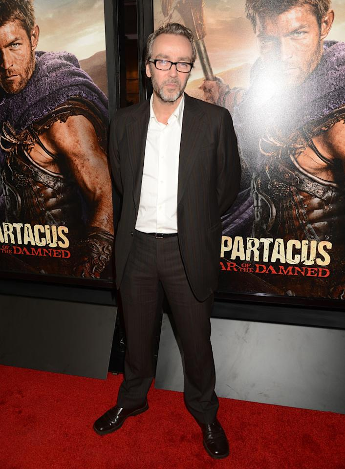 "John Hannah attends the premiere of Starz's ""Spartacus: War of the Damned"" at Regal Cinemas L.A. Live on January 22, 2013 in Los Angeles, California."