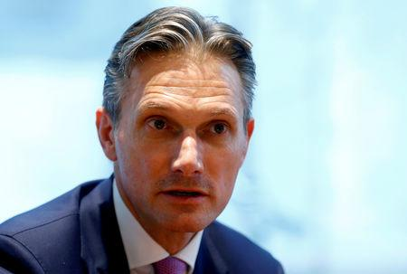 FILE PHOTO: Richard Francis talks during an interview with Reuters in Basel