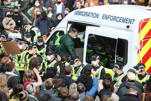 Glasgow immigration protest