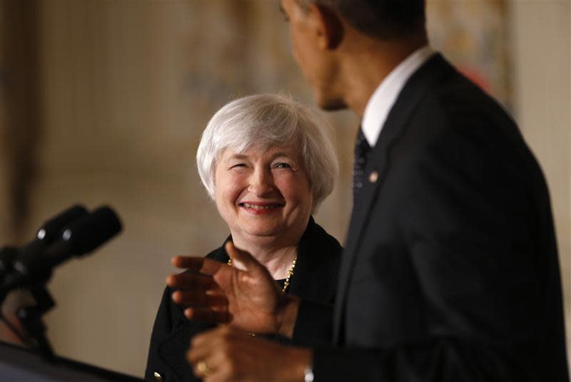 U.S. President Obama announces his nomination of Yellen to head the Federal Reserve in Washington