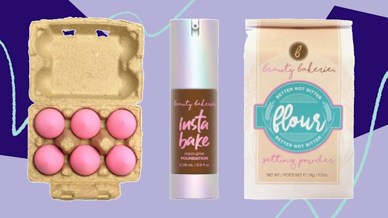 """<a href=""""https://fave.co/372wphw"""" target=""""_blank"""" rel=""""noopener noreferrer"""">Beauty Bakerie</a> is a beauty collection that specializes in<a href=""""https://fave.co/2BrlsHH"""" target=""""_blank"""" rel=""""noopener noreferrer"""">sweets-inspired makeup sets</a>. Choose from cleverly named products like the <a href=""""https://fave.co/2Uf4BBp"""" target=""""_blank"""" rel=""""noopener noreferrer"""">best-selling Face Flour Baking Powder</a>and the <a href=""""https://fave.co/2UgjvXY"""" target=""""_blank"""" rel=""""noopener noreferrer"""">InstaBake Aqua Glass Foundation</a>. We're obsessed with <a href=""""https://fave.co/3cDsrwS"""" target=""""_blank"""" rel=""""noopener noreferrer"""">these beauty blenders</a> that come packaged like a carton of eggs. <br /><br />You can <a href=""""https://fave.co/372wphw"""" target=""""_blank"""" rel=""""noopener noreferrer"""">shop Beauty Bakerie at Ulta</a>"""