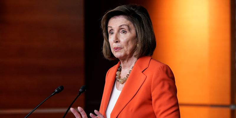 FILE PHOTO: Speaker of the House Nancy Pelosi (D-CA) speaks during a media briefing ahead of a House vote authorizing an impeachment inquiry into U.S. President Trump on Capitol Hill in Washington, U.S., October 31, 2019. REUTERS/Joshua Roberts