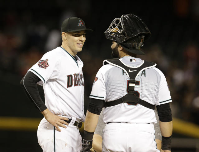 "It's time for another talk about surging Arizona lefty <a class=""link rapid-noclick-resp"" href=""/mlb/players/9168/"" data-ylk=""slk:Patrick Corbin"">Patrick Corbin</a> (left) (AP Photo/Rick Scuteri)"