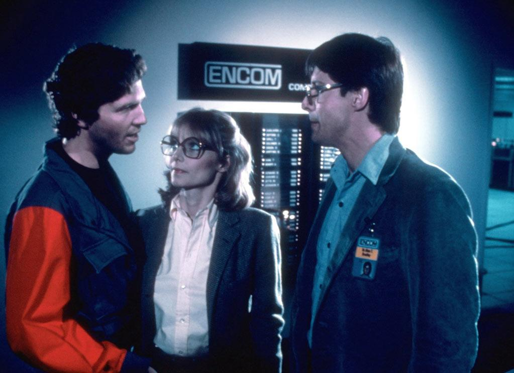 """<a href=""""http://movies.yahoo.com/movie/contributor/1800011634"""">Jeff Bridges</a>, <a href=""""http://movies.yahoo.com/movie/contributor/1800129844"""">Cindy Morgan</a> and <a href=""""http://movies.yahoo.com/movie/contributor/1800031623"""">Bruce Boxleitner</a> in Walt Disney Pictures' <a href=""""http://movies.yahoo.com/movie/1800129842/info"""">Tron</a> - 1982"""