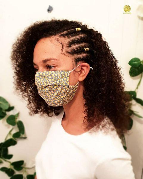 """<p>If you don't want to commit to a fully-cornrowed look, why not accent your curls with a few rows?</p><p><a href=""""https://www.instagram.com/p/CBIVG0foi4V/"""" rel=""""nofollow noopener"""" target=""""_blank"""" data-ylk=""""slk:See the original post on Instagram"""" class=""""link rapid-noclick-resp"""">See the original post on Instagram</a></p>"""
