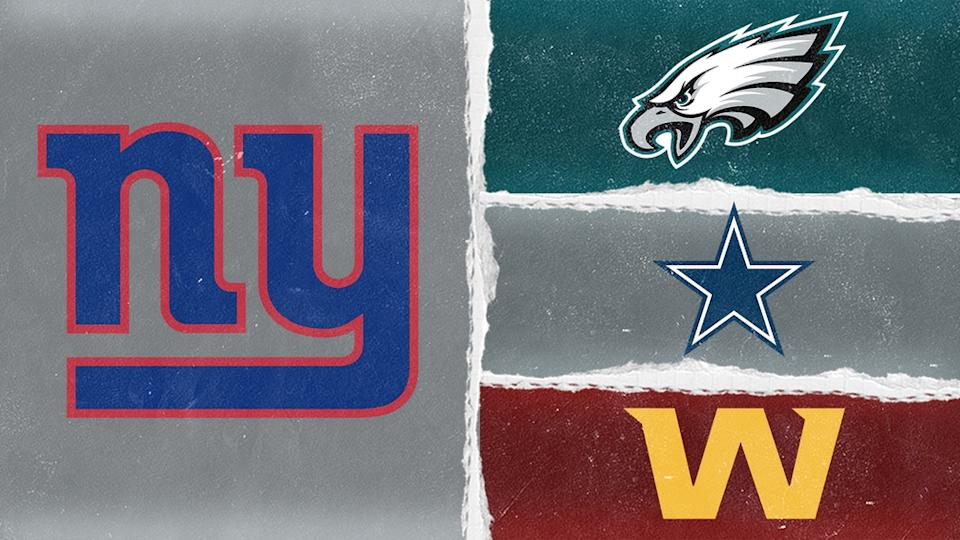 NFC East team logos treated