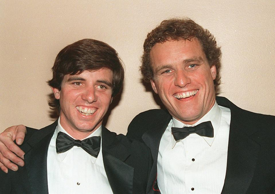 Michael Kennedy (left) with his brother Rep. Joseph Kennedy (right).