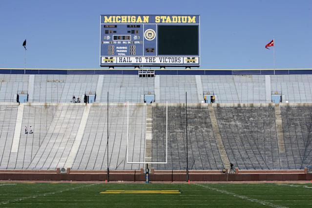 The Michigan athletic department is anticipating it will operate at a $26.1 million deficit for the 2021 fiscal year. (Photo by: Harry How/Getty Images)