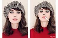 "<p><i>Clyde beret, price upon request, <a href=""http://clyde.world/collections/all"" rel=""nofollow noopener"" target=""_blank"" data-ylk=""slk:clyde.world"" class=""link rapid-noclick-resp"">clyde.world</a><br>Escada Sulgo top, $575, <a href=""http://us.escada.com/knitwear/luxus/top-sulgo/5018297.A101"" rel=""nofollow noopener"" target=""_blank"" data-ylk=""slk:escada.com"" class=""link rapid-noclick-resp"">escada.com</a></i></p>"