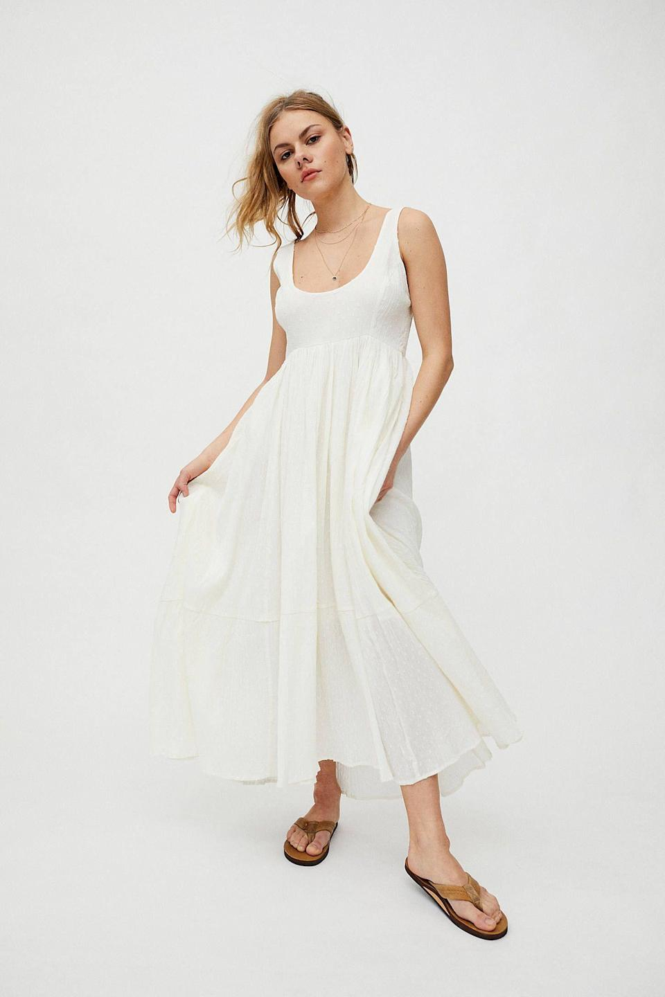 """<p><strong>Urban Outfitters</strong></p><p>urbanoutfitters.com</p><p><strong>$89.00</strong></p><p><a href=""""https://go.redirectingat.com?id=74968X1596630&url=https%3A%2F%2Fwww.urbanoutfitters.com%2Fshop%2Fuo-million-miles-maxi-dress&sref=https%3A%2F%2Fwww.thepioneerwoman.com%2Ffashion-style%2Fg36269895%2Fcute-summer-dresses%2F"""" rel=""""nofollow noopener"""" target=""""_blank"""" data-ylk=""""slk:Shop Now"""" class=""""link rapid-noclick-resp"""">Shop Now</a></p><p>Summer is LWD (little white dress) season! Go for a simple maxi like this that you can dress up or down. It's the perfect blank slate. </p>"""