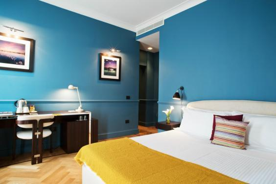 The deluxe blue room at the hotel (The Fifteen Keys Hotel)