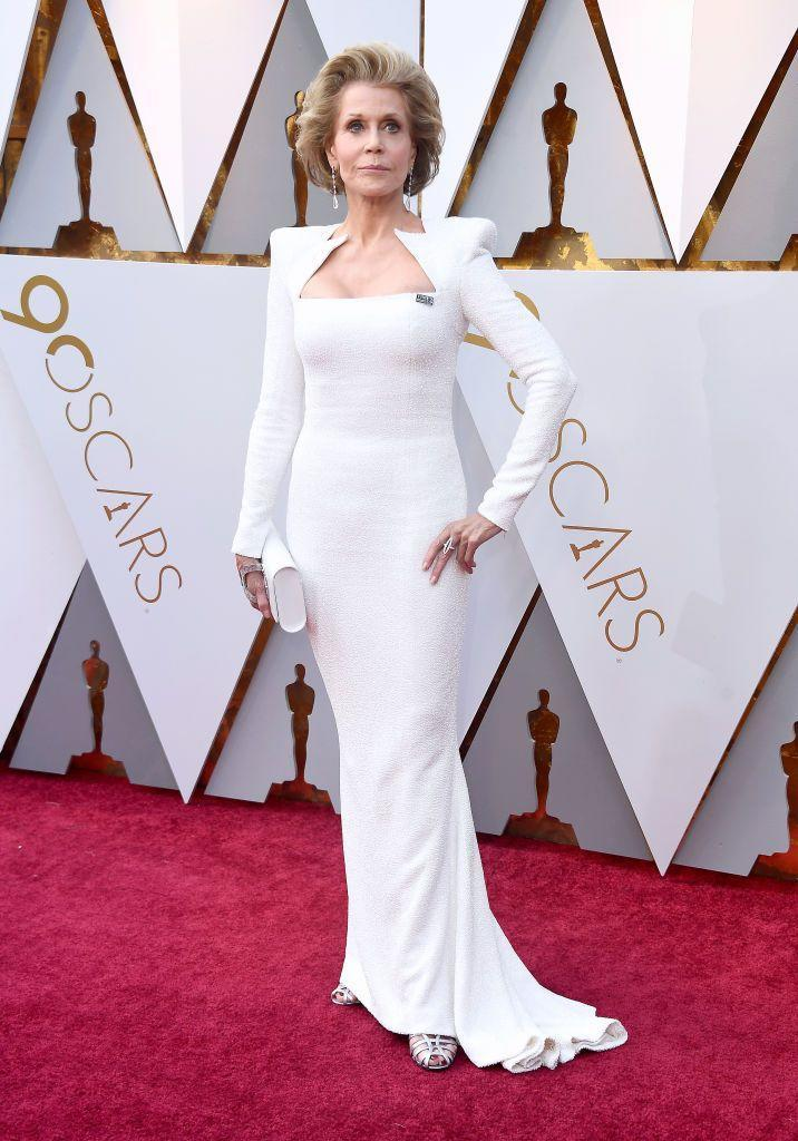 """<p>Actress and activist Jane Fonda <a href=""""https://www.wmagazine.com/story/jane-fonda-plastic-surgery-regrets/"""" rel=""""nofollow noopener"""" target=""""_blank"""" data-ylk=""""slk:admitted to having plastic surgery"""" class=""""link rapid-noclick-resp"""">admitted to having plastic surgery</a>, which is something she is not proud of. 'I'm not proud of the fact that I've had it. But I grew up so defined by my looks,' she said. 'I was taught to think that if I wanted to be loved, I had to be thin and pretty. That leads to a lot of trouble.'</p>"""