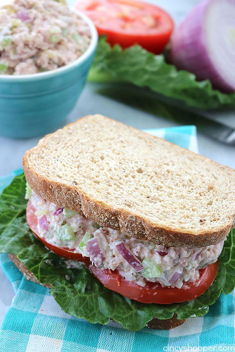 """<p>If you anticipate leftovers, go ahead and slice that Christmas ham early! This is one of the easiest ways to use up any extras.</p><p><strong>Get the recipe at <a href=""""http://cincyshopper.com/ham-salad/"""" rel=""""nofollow noopener"""" target=""""_blank"""" data-ylk=""""slk:Cincy Shopper"""" class=""""link rapid-noclick-resp"""">Cincy Shopper</a>.</strong><br></p>"""