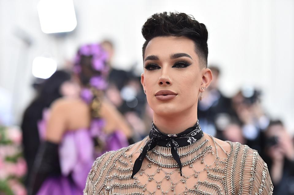 James Charles shared photos of his first time wearing a skirt