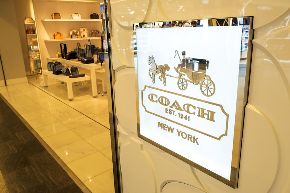 Chiba, Japan - March 24, 2019: View of  Coach front store, the original house of leather, for luxury bags, wallets, ready-to-wear and more, at Narita International Airport, Chiba, Japan.