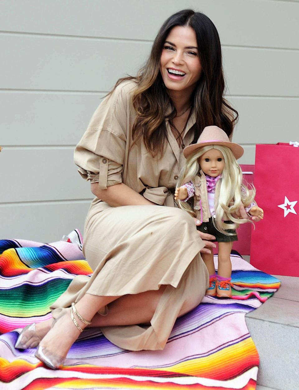<p>Jenna Dewan celebrates American Girl's 2021 Girl of the Year Kira Bailey in L.A.</p>