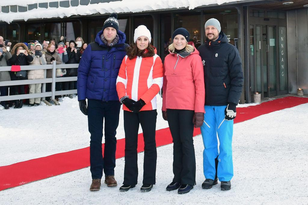"<p>The Duke and Duchess brave the Nordic temperatures at Holmenkollen ski jump, where they will take a short tour of the museum before watching junior ski jumpers from Norway's national team. Kate made sure to keep warm in a seriously sweet £26 bobble hat by <a rel=""nofollow"" href=""https://www.barts.eu/product/jasmin-beanie-white/"">Barts</a>. <em>[Photo: Getty]</em> </p>"