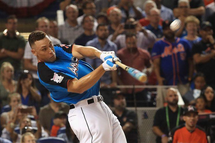Aaron Judge's first round in the Home Run Derby featured 23 homers. (Getty Images)