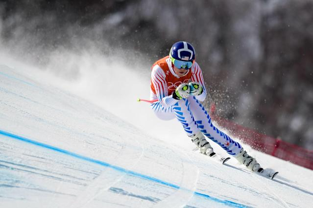 Lindsey Vonn competes in arguably the fastest event at the Winter Olympics. (Getty)