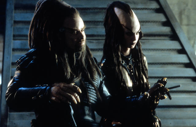 John Travolta in scene from the film 'Battlefield Earth', 2000. (Photo by Warner Brothers/Getty Images)