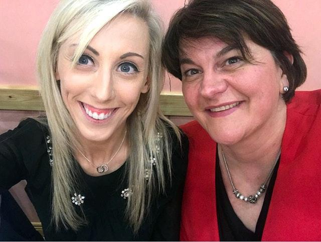 DUP candidate Carla Lockhart with Arlene Foster