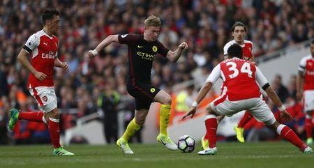Britain Football Soccer - Arsenal v Manchester City - Premier League - Emirates Stadium - 2/4/17 Manchester City's Kevin De Bruyne in action Reuters / Eddie Keogh Livepic