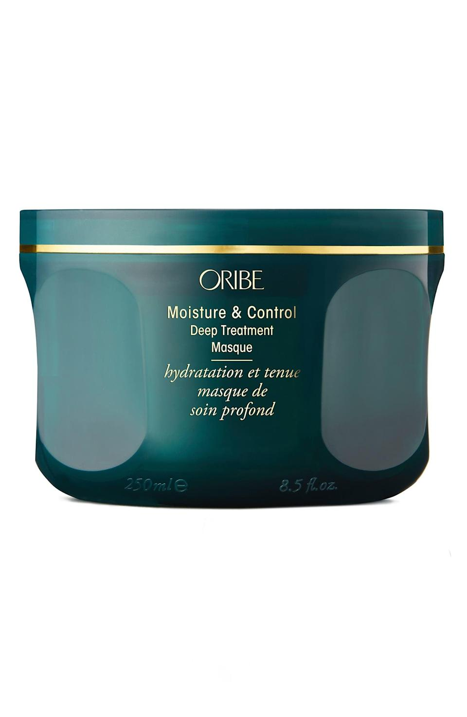 <p>If you heat style, bleach, and put your hair through the ringer, the <span>Moisture &amp; Control Deep Treatment Hair Masque</span> ($68) is the deep conditioning treatment your hair deserves.</p>