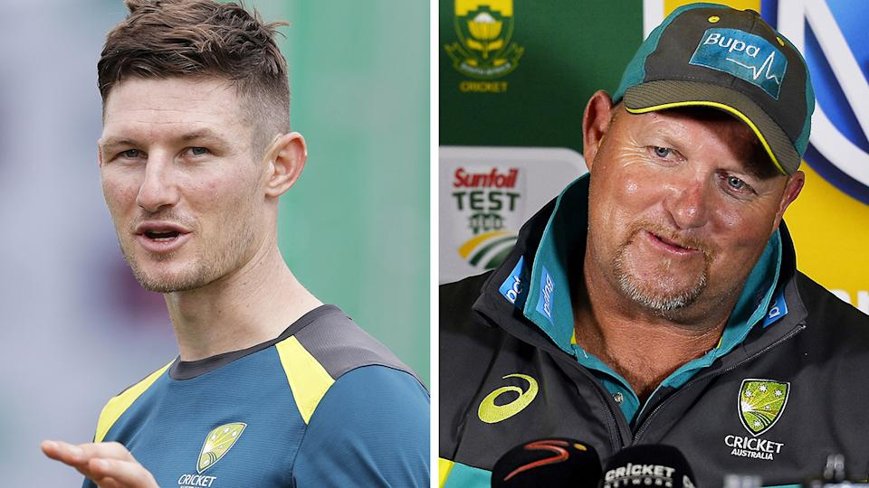 Cameron Bancroft's interview with the Guardian prompted a supportive response from former Australian bowling coach David Saker. Pictures: Getty Images