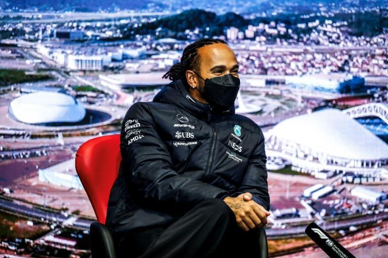 Lewis Hamilton has faced accusations from rivals that he exaggerated the extent of his injuries after the crash with Max Verstappen at the Italian Grand Prix (AFP/Joao Filipe)