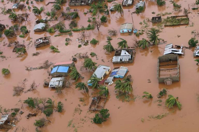 The superstorm turned a swathe of central Mozambique into an inland sea
