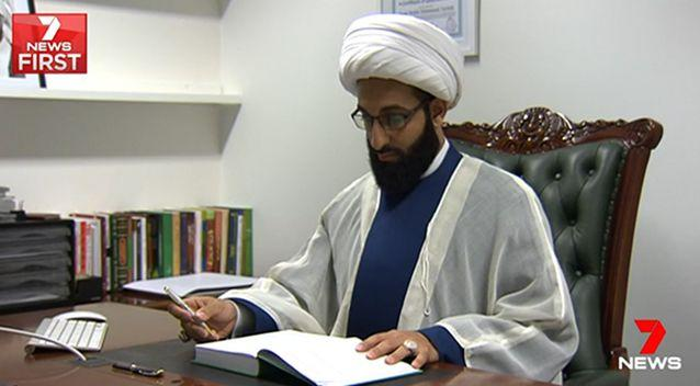 Imam Tawhidi fears for his safety after agreeing with a controversial anti-Islamic speaker. Photo: 7 News