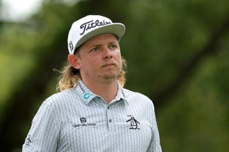 Australian Cameron Smith fired an 11-under par 60 on Saturday to set a course record at Liberty National in the third round of the US PGA Northern Trust tournament