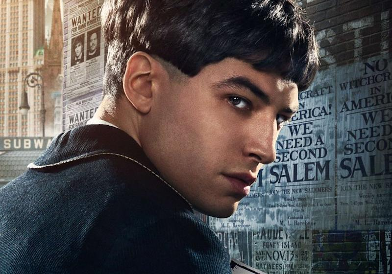 Ezra Miller's character Credence in one of the 'Fantastic Beasts' character posters.
