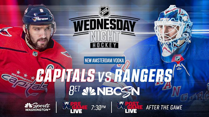 4 things to know for Caps-Rangers: Injuries and a possible suspension force Washington to shuffle the lineup