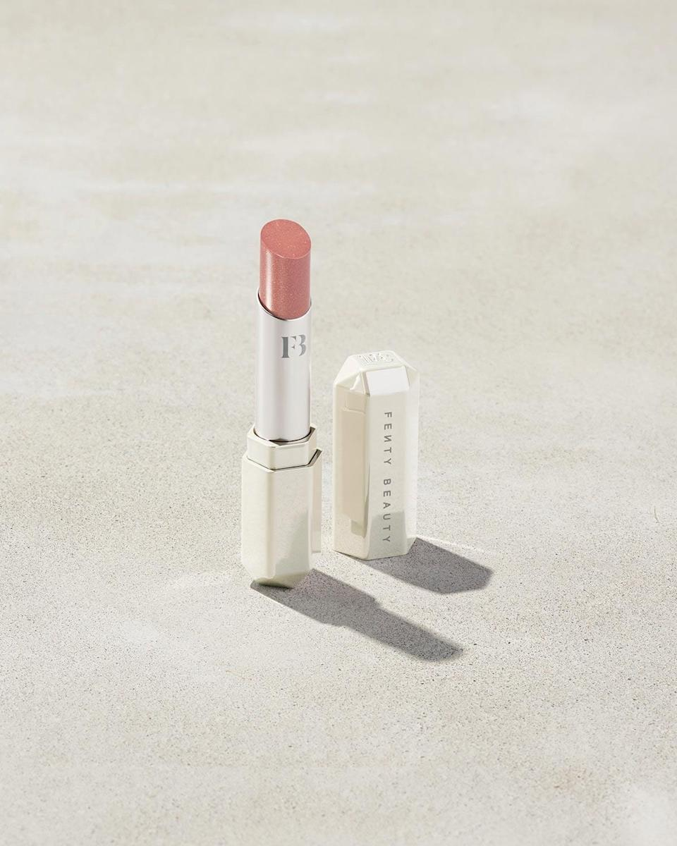 <p><span>Fenty Beauty Slip Shine Sheer Lipstick in Makeout Break </span> ($22) is great because you can apply it throughout the day without it getting too thick or cracked. It's smooth and moisturizing.</p>