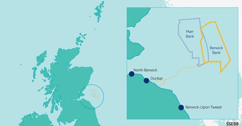 Berwick Bank Wind Farm will be located approximately 40km off the coast of East Lothian (SSE)