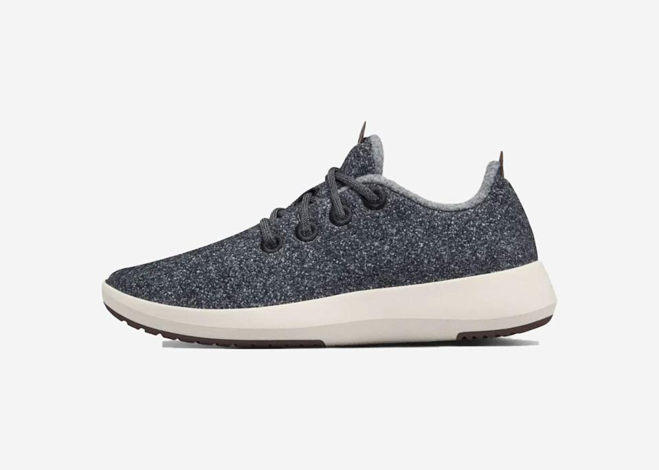 "A wool shoe that repels water? You better believe it. Allbirds' Wool Runner Mizzles look and feel warm and cozy thanks to the merino wool upper, but since it's been coated with a fluorine-free water-repellant layer, it will instantly shield off any kind of weather, while still remaining breathable. Plus its sole is made of carbon negative material and natural rubber, so you can feel good about making a positive impact with every step. $115, Allbirds. <a href=""https://www.allbirds.com/products/mens-wool-runner-mizzles"" rel=""nofollow noopener"" target=""_blank"" data-ylk=""slk:Get it now!"" class=""link rapid-noclick-resp"">Get it now!</a>"