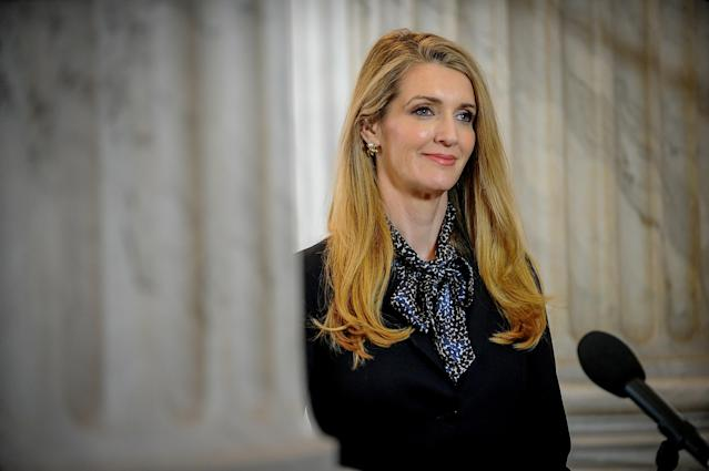 Sen. Kelly Loeffler (R-Ga.), co-owner of the Atlanta Dream, disclosed details stock transactions that have some calling insider trading. (REUTERS/Mary F. Calvert)