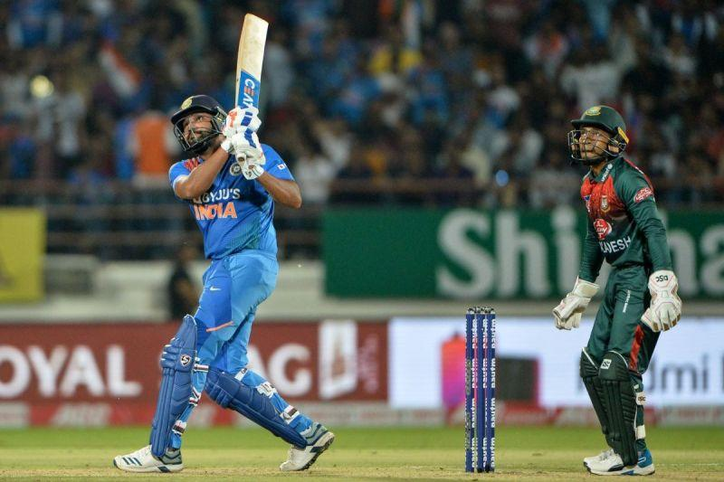 Rohit Sharma's assault blew away the opponent's bowling attack.