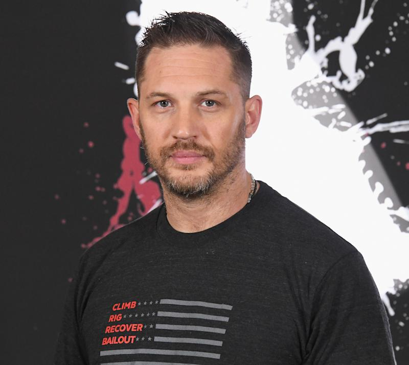 "LOS ANGELES, CA - SEPTEMBER 27: Tom Hardy attends the photo call for Columbia Pictures' ""Venom"" at Four Seasons Hotel Los Angeles at Beverly Hills on September 27, 2018 in Los Angeles, California. (Photo by Jon Kopaloff/FilmMagic)"