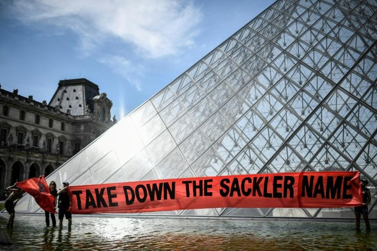 The Sackler family's reputation has taken a hit in recent months after demonstrations against their role in the US opioid crisis (AFP Photo/STEPHANE DE SAKUTIN)