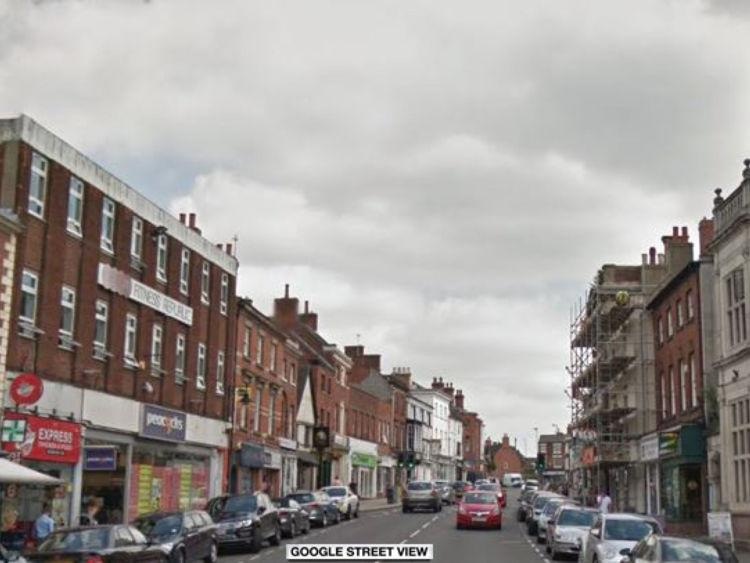 The incident happened in Market Street, Ashby-de-la-Zouch
