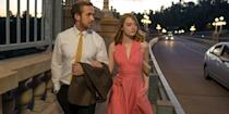 "<p>Gridlocked traffic, casting call rejections, commuter smog—isn't all so romantic? But, really, Damien Chazelle's love letter to the classic movies of yore enchants with dance numbers, musical interludes, and the onscreen chemistry firing between real-life pals <span class=""redactor-unlink"">Emma Stone and Ryan Gosling</span>. <a class=""link rapid-noclick-resp"" href=""https://www.amazon.com/Land-Ryan-Gosling/dp/B01MRR7AUU/?tag=syn-yahoo-20&ascsubtag=%5Bartid%7C10056.g.6498%5Bsrc%7Cyahoo-us"" rel=""nofollow noopener"" target=""_blank"" data-ylk=""slk:Watch Now"">Watch Now</a></p>"