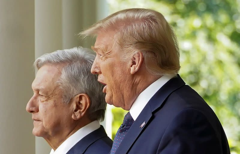 FILE PHOTO: U.S. President Trump holds signing ceremony with Mexico?s President Lopez Obrador at the White House in Washington