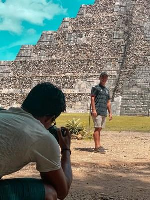 """""""A Beautiful Game,"""" has found itself being filmed in numerous iconic locations. Evans is seen here filming at Chichen Itza, known as one of the Seven Wonders of The World in Mexico. Evans became the second solo artist to film there, with singer Jennifer Lopez being the first. (PRNewsfoto/Thematic Productions)"""