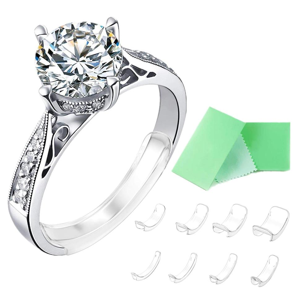 """<h3><a href=""""https://amzn.to/3n4fnqd"""" rel=""""nofollow noopener"""" target=""""_blank"""" data-ylk=""""slk:Invisible Ring Size Adjuster for Loose Rings"""" class=""""link rapid-noclick-resp"""">Invisible Ring Size Adjuster for Loose Rings</a></h3><br><strong>Alexa</strong><br><br><strong>How She Discovered It:</strong> """"My fingers tend to shrink in the winter when it's cold and my rings go slipping and sliding off of my fingers. I didn't want to get my rings resized, so I thought I'd search for a temporary solution."""" <br><br><strong>Why It's A Hidden Gem: </strong>""""This ring adjuster is basically invisible, comfortable, and secures my rings nicely on my fingers!""""<br><br><strong>Freeman Direct</strong> Invisible Ring Size Adjuster for Loose Rings, $, available at <a href=""""https://amzn.to/3n4fnqd"""" rel=""""nofollow noopener"""" target=""""_blank"""" data-ylk=""""slk:Amazon"""" class=""""link rapid-noclick-resp"""">Amazon</a>"""
