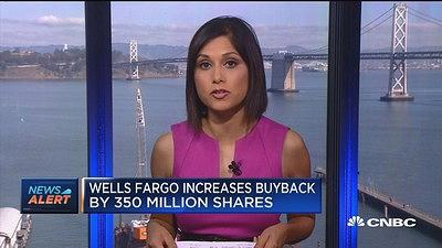 CNBC's Aditi Roy reports WFC has announced a buyback of 350 million shares.
